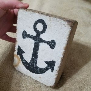 Rustic Nautical Wooden Anchor Decor